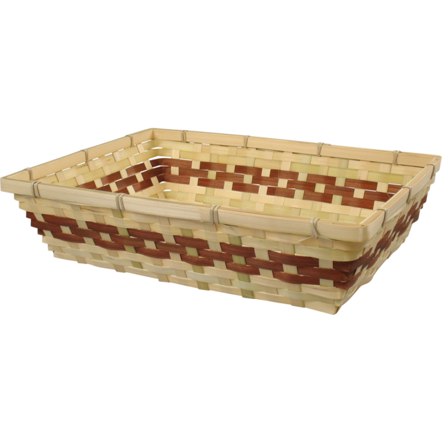 Basket, Wicker, 38x29x10cm, square , natural/Brown 1