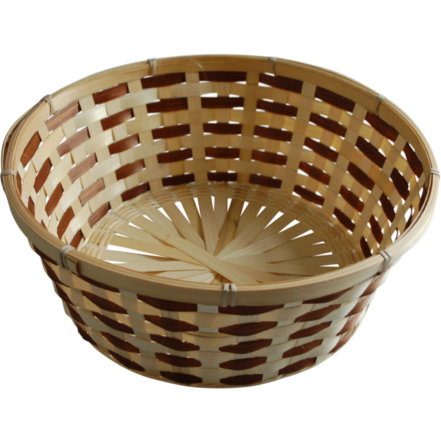Basket, Wicker, Ø32cm, 13cm, natural/Brown 1