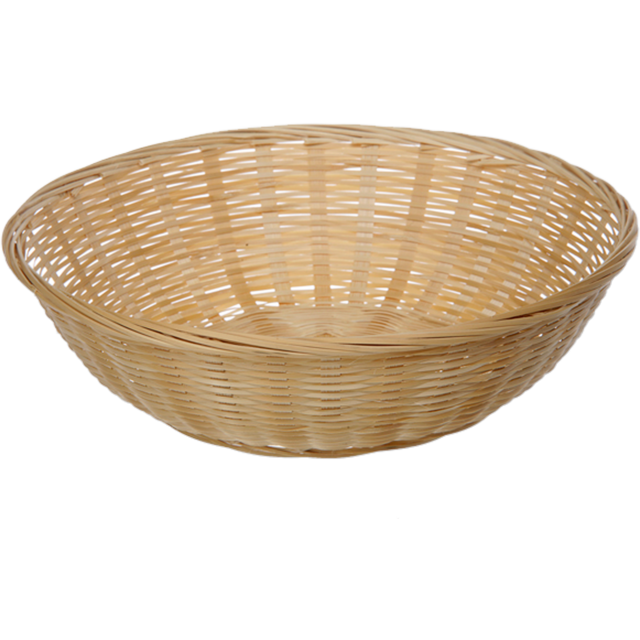 Basket, Wicker, Ø30cm, 9cm, round, natural 1