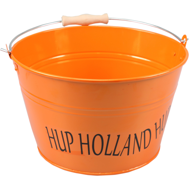 Eimer, Hup Holland Hup, Zink, 16,5cm, 20,3cm, 26,5cm, orange  1