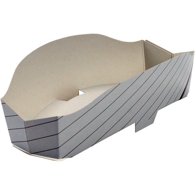Container, Cardboard, sandwich container, 170x75x50mm, natural 1