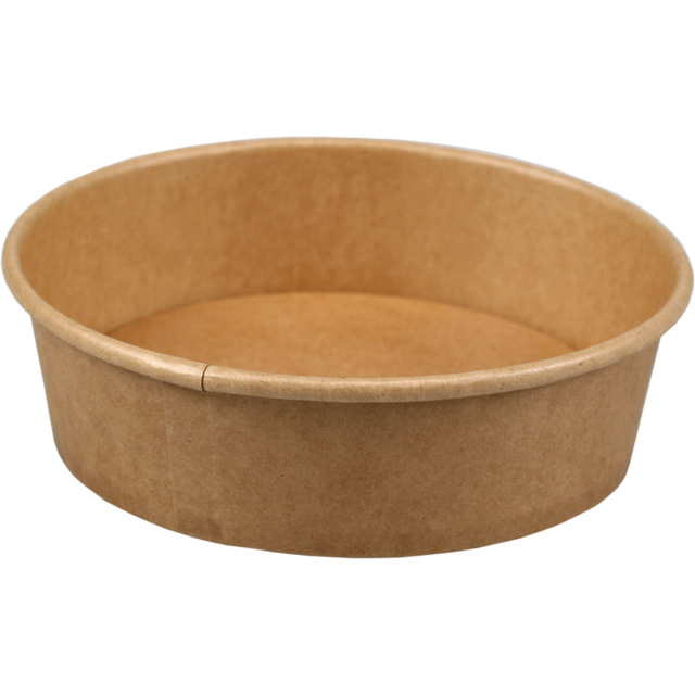 Container, Kraft et plastique , 500ml, bowl, 45mm, brown  1