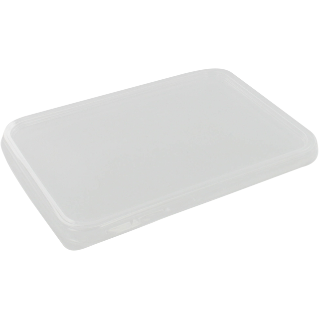Lid, PP, rectangular, 195x140mm, transparent 1