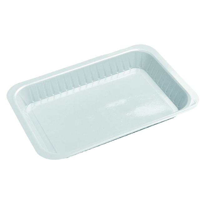 Depa Catering serving tray , v-container, PS, v3, rectangular, 200x140mm, white 1