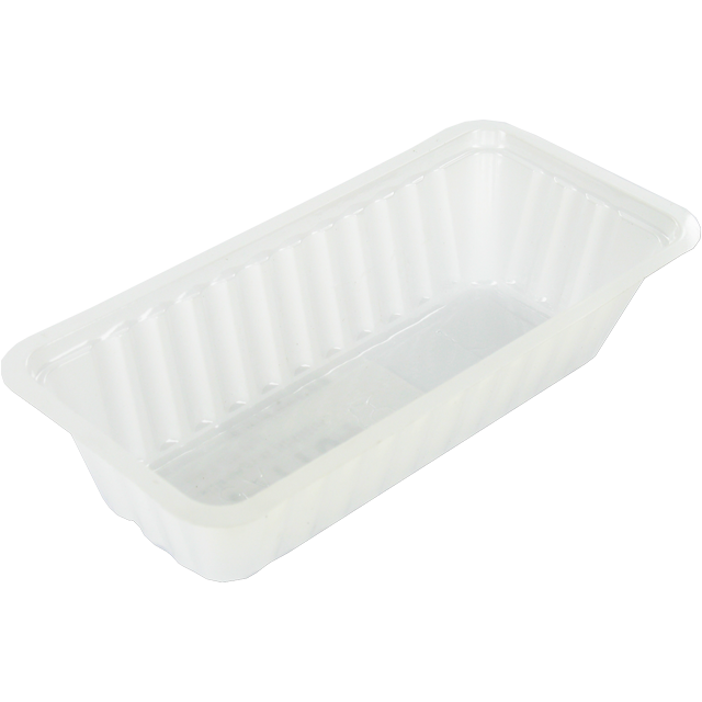 Container, PS, A5, sausage container, 142x68x34mm, white 1