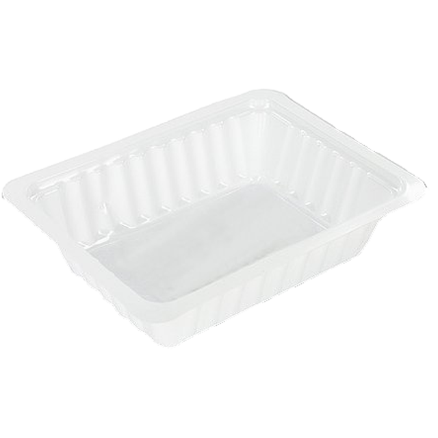 DEPA® Container, PS, A7, french fries container, 121x93x31mm, white 1