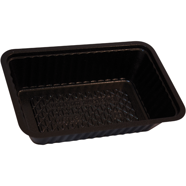 Container, PS, A9, french fries container, 145x95x36mm, black 1