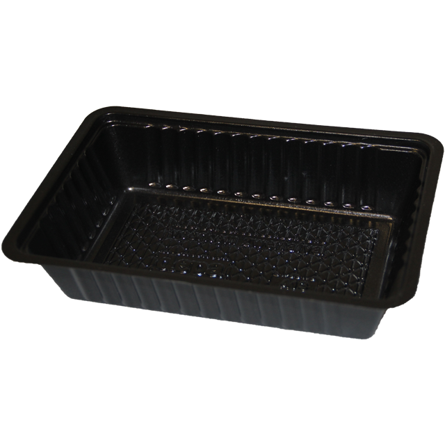 Container, PS, A13, french fries container, 163x110x37mm, black 1