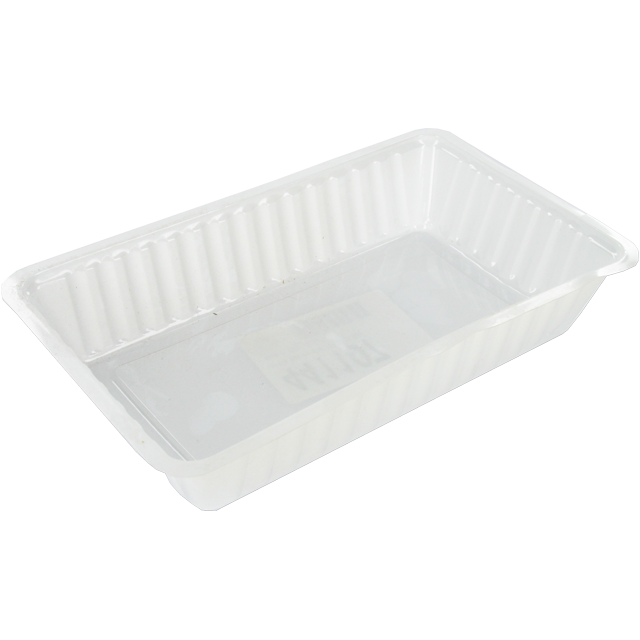 Container, PS, A14, french fries container, 189x120x36mm, white 1