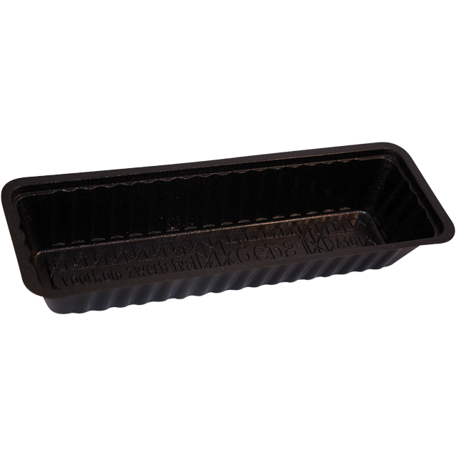 Container, PS, A16n, frankfurter container, 203x68x33mm, black 1