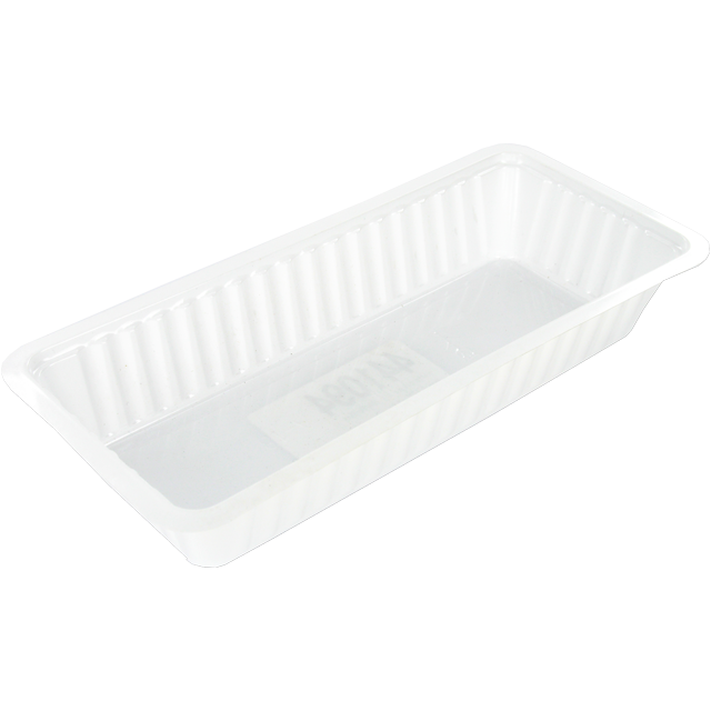 Container, PS, A18, frankfurter container, 204x95x35mm, white 1