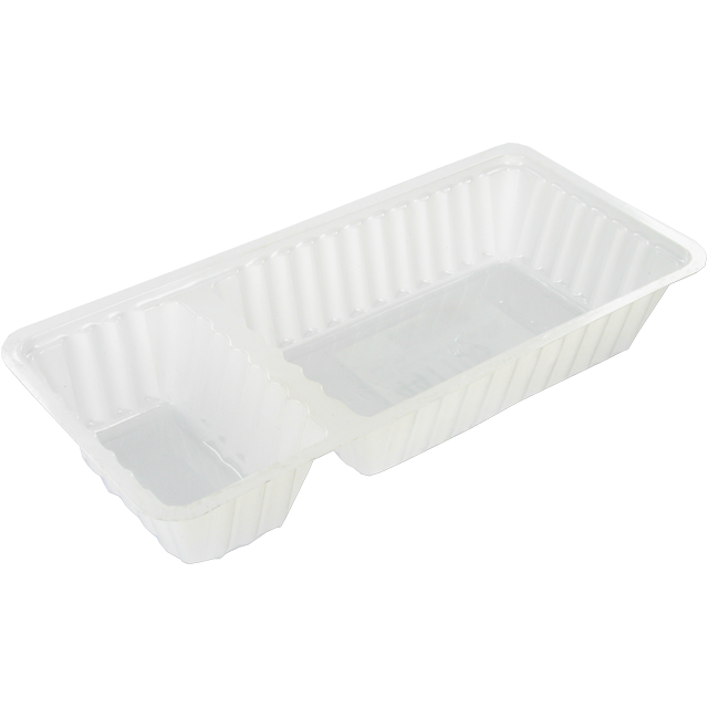 Container, PS, A9+1/A22, french fries container, 203x95x36mm, white 1