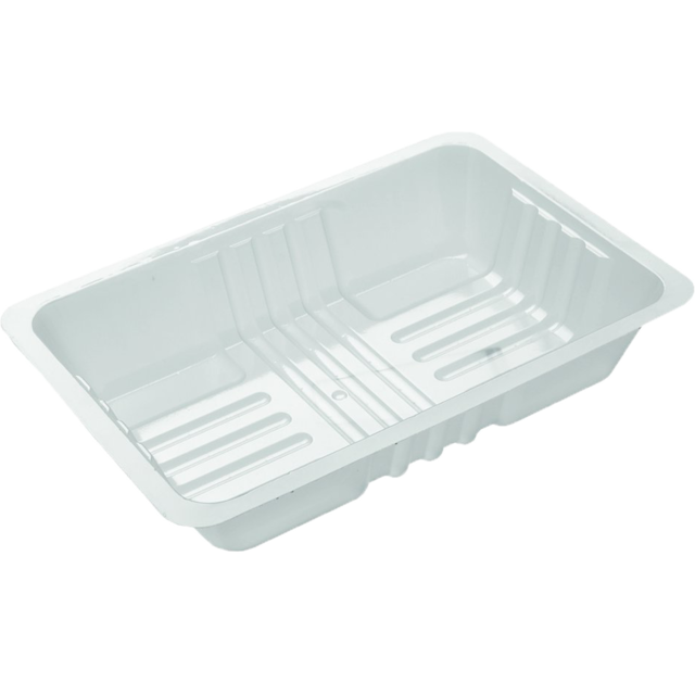 Container, PS, A50, noodle and rice container, 145x200x40mm, white 1