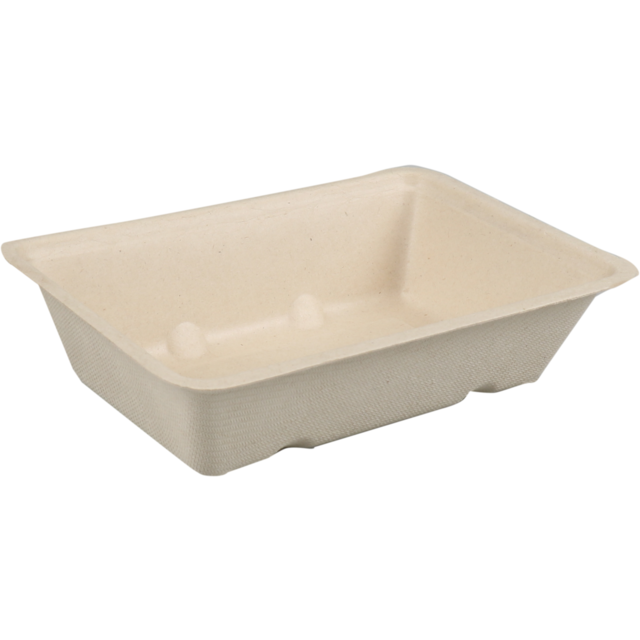 Biodore® Container, Bagasse, A9, 145x97x36mm, brown  1