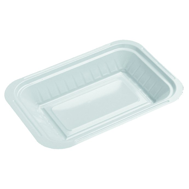 Depa Catering serving tray , v-container, PS, v1, rectangular, 163x110mm, white 1
