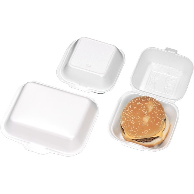 Bak, EPS, IP7, hamburgerbakje, 135x135x74mm, wit 1