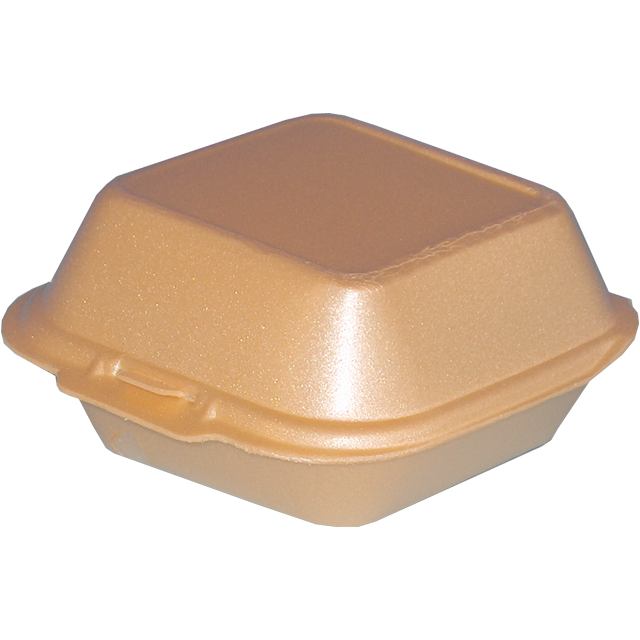 Container, EPS, IP7, hamburger box, 120x122x70mm, beige 1