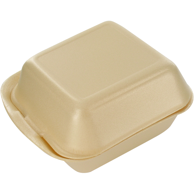 Container, EPS, IP6, hamburger box, 133x145x75mm, champagne 1