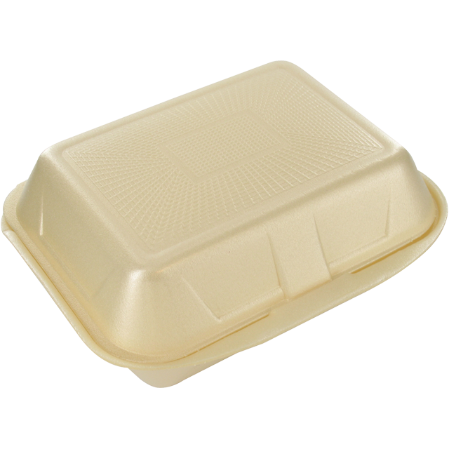 Container, EPS, IP9, hamburger box, 133x185x75mm, champagne 1