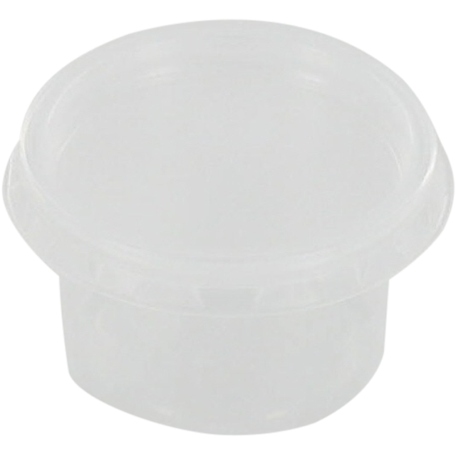 Bak, PP, 30ml, Ø46mm, kunststof cup, 38mm, transparant 1