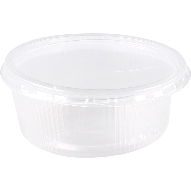 Container, PP, 150ml, Ø101mm, ripple cup, transparent 1