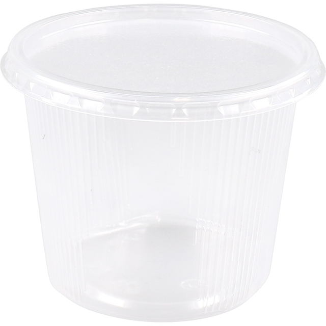 Container, PP, 400ml, Ø101mm, ripple cup, transparent 1