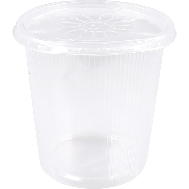 Container, PP, 500ml, Ø101mm, ripple cup, transparent 1