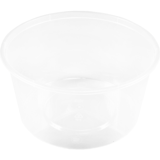 Container, PP, 460cc, Ø119mm, plastic cup, 64mm, transparent 1