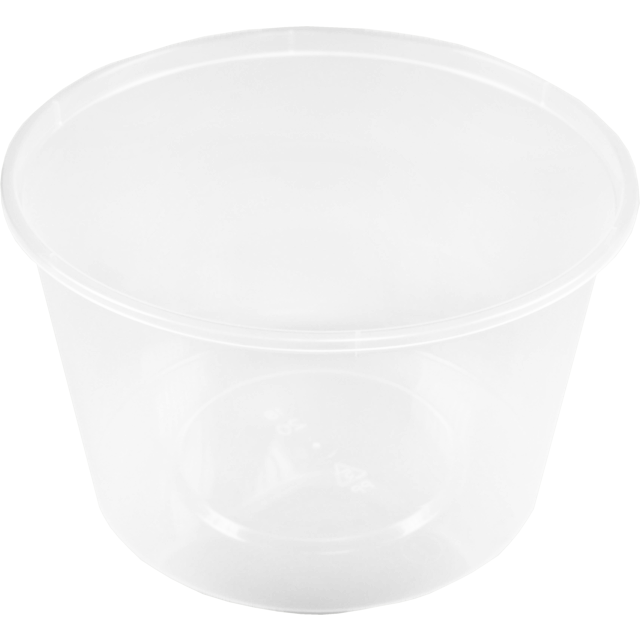Container, PP, 520cc, Ø119mm, plastic cup, 74.5mm, transparent 1