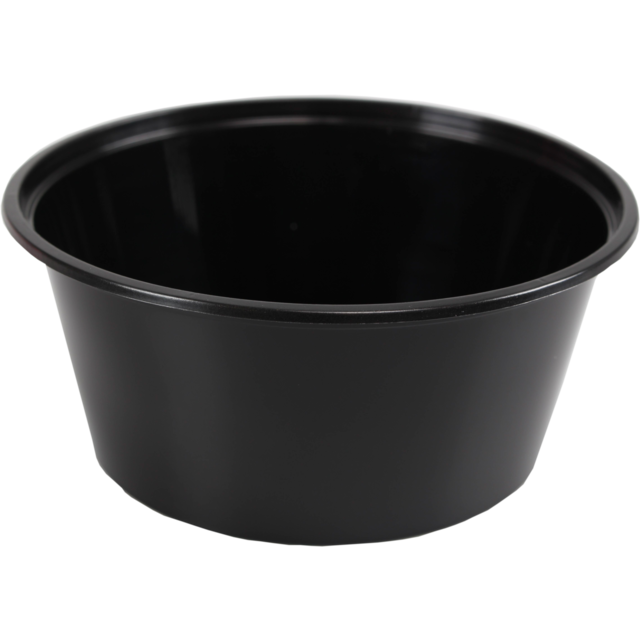Container, PP, 350cc, Ø119mm, plastic cup, 52mm, black 1
