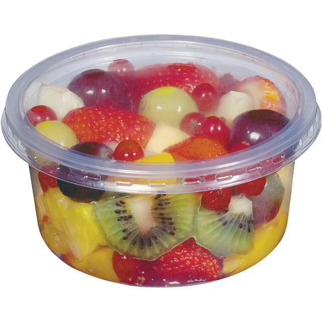 Container, PP, 250ml, Ø115mm, plastic cup, transparent 1