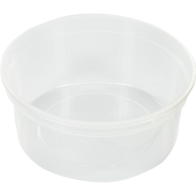 Container, PP, 350ml, Ø115mm, plastic cup, transparent 1