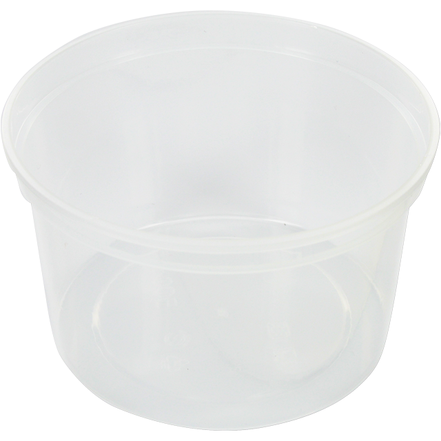 Container, PP, 500ml, Ø115mm, plastic cup, transparent 1