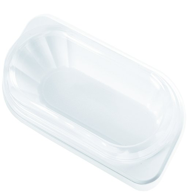Container, PP, KU1, with lid, white/Transparent 1