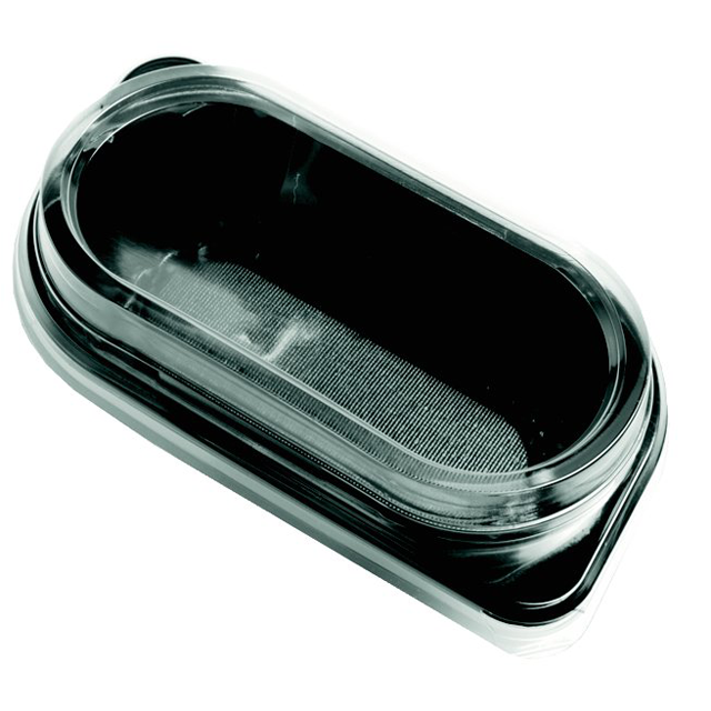 Container, PP, KU1, with lid, black/Transparent 1