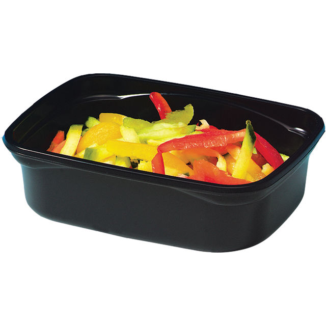 Container, PP, 150ml, plastic cup, 108x82x30mm, black 1