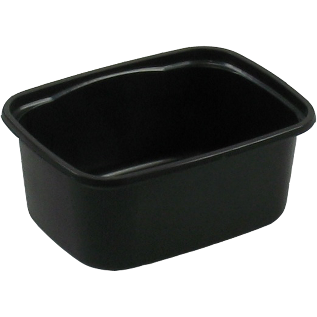 Container, PP, 250ml, plastic cup, 108x82x45mm, black 1