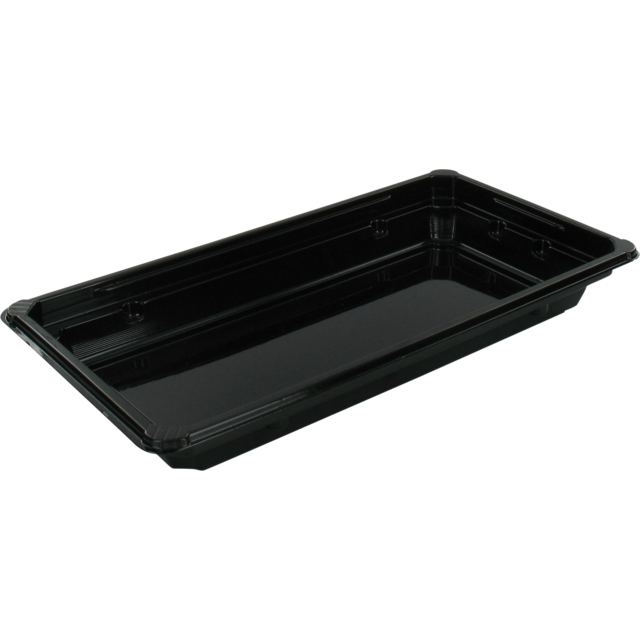 Container, PET, sushi tray, 171x91x21mm, black 1