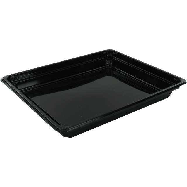 Container, PET, sushi tray, 171x143x222mm, black 1