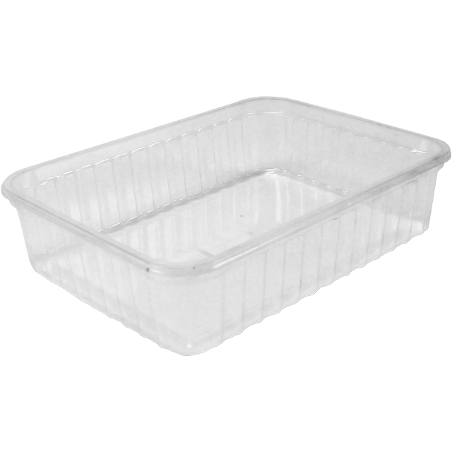 Container, PS, 500ml, kilo container, 180x135x45mm, transparent 1