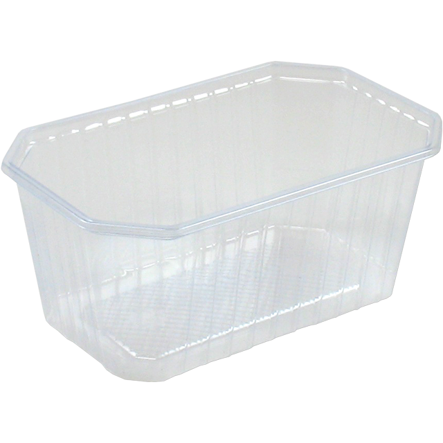 Bak, PVC, 1000ml, 187x80x80mm, transparant 1