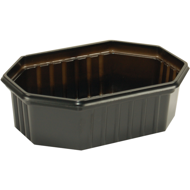 Container, PS, 200ml, 125x95x31mm, black 1