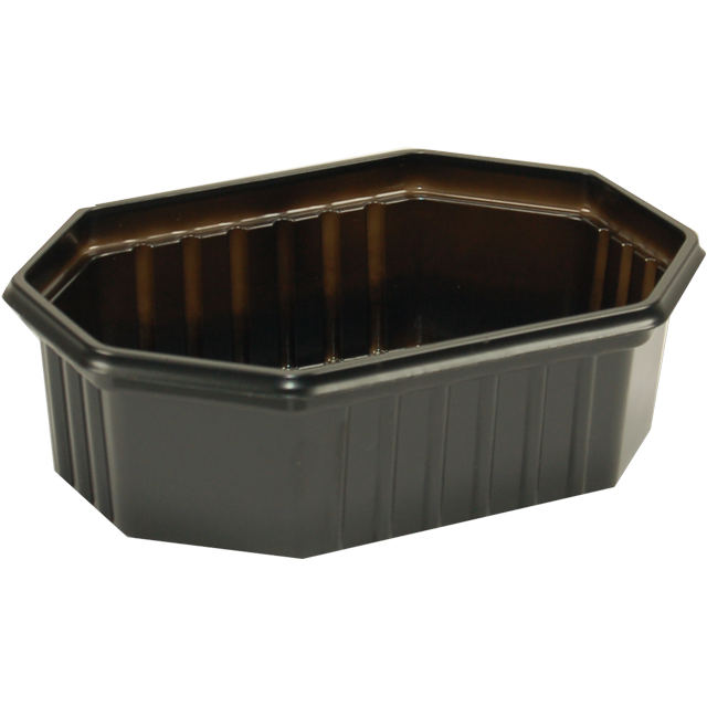 Container, PS, 250ml, 125x95x39mm, black 1