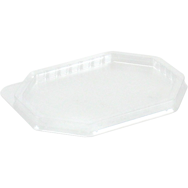 Lid, PET, octagon, 125x95mm, transparent 1