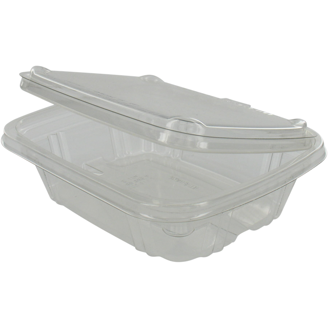 Container, PET, 250ml, salad container, transparent 1