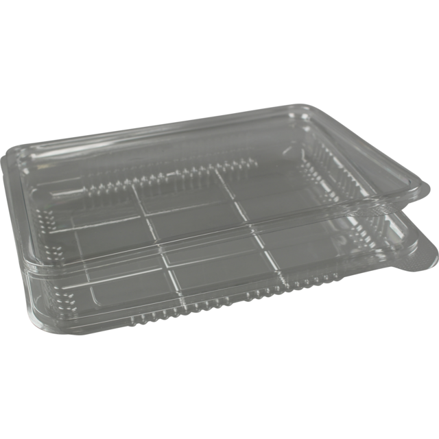 Catering serving tray , cold-meats tray, PET, rectangular, 600ml, 200x150mm, transparent 1