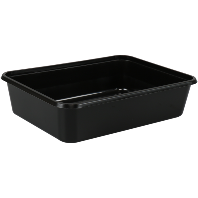 Container, PP, 1000ml, kilo container, 182x135x63mm, black 1