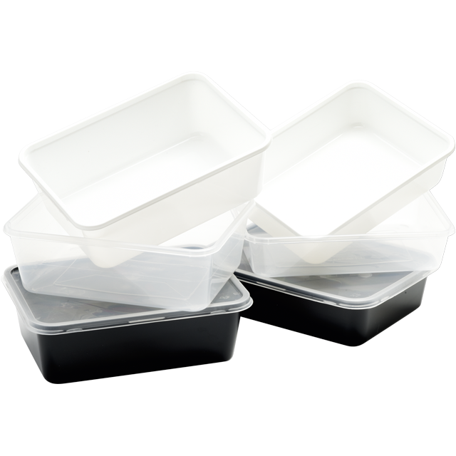 Container, PP, 500ml, kilo container, 182x135x35mm, white 1