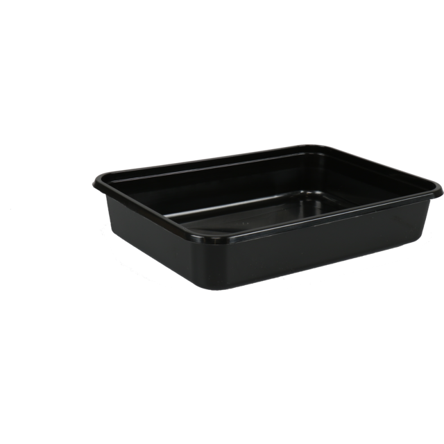 Container, PP, 500ml, kilo container, 182x135x35mm, black 1