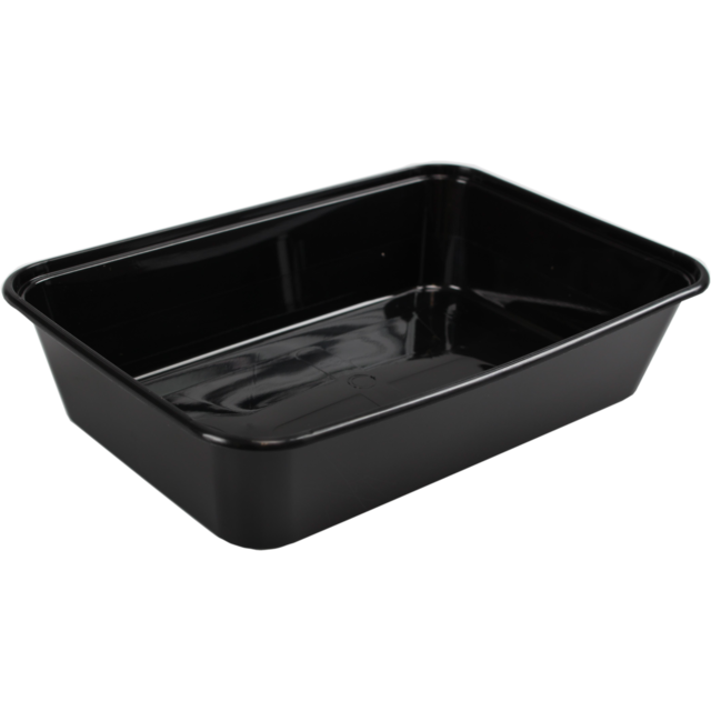 Container, PP, 500ml, 172x120x35mm, black 1